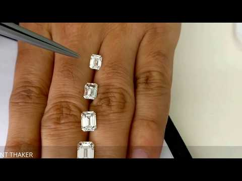 Emerald cut diamond size compare on hand 1ct untill 2ct
