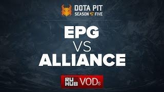 Elements Pro Gaming vs Alliance, Dota Pit Season 5, game 1 [Lex, Adekvat]