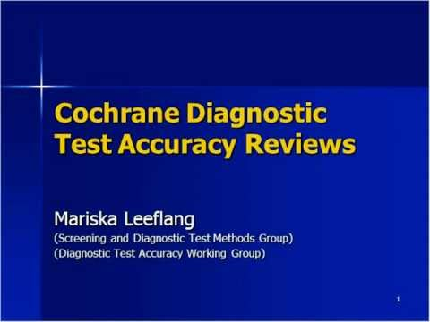 CCNC 20111207 Mariska Leeflang on Diagnostic Test Accuracy Reviews.mov