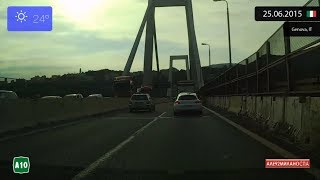 Alessandria Italy  city pictures gallery : Driving from Alessandria to Genova (Italy) 25.06.2015 Timelapse x4
