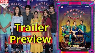 The much-awaited trailer of 'Bareilly Ki Barfi', starring Kriti Sanon, Ayushmann Khurrana and Rajkummar Rao dropped online after a special trailer launch event held in Mumbai. The romantic comedy helmed by Filmfare award-winning director Ashwiny Iyer Tiwariand written by her husband, Nitesh Tiwari, is set up in Bollywood's favourite city of Bareilly.The film is based on a French book, titled 'Ingredients of Love'. Nitesh, who adapted the book into the script with co-writer Shreyas Jain, has changed the setting of the story from France to Uttar Pradesh. The two-and-a-half minute trailer sees the trio taking us on a joyful ride with quirky UP one-liners and a storyline that will leave you intrigued.Bareilly Ki Barfi,Subscribe Us for Latest News & Updates ►http://bit.ly/NMFNEWSDownload the NMF News APP ► http://bit.ly/2gIeX6YStay Connected with Us  :Facebook ► http://bit.ly/2hrPApVTumblr ► http://bit.ly/2gIe1zqBlogger ► http://bit.ly/2grbqwa