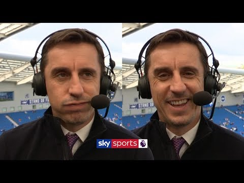 Gary Neville jokes with Jamie Carragher about his ideal Premier League title situation