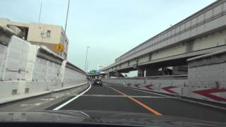 Japan car cab ride video.