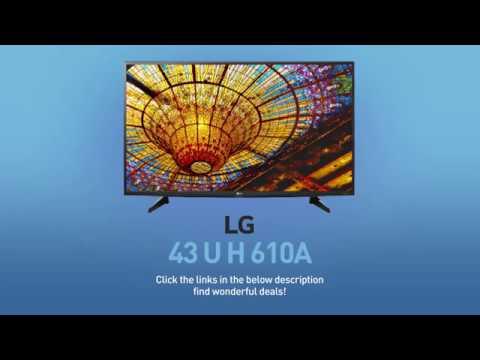 LG 43UH610A (43UH6100) 4K UHD HDR Smart LED TV - 43