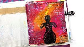 """Ethos Woman"" || Art Everyday || Mini Junk Journal Page #2"