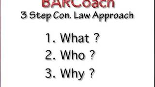 BAR EXAM 3 Steps To CONSTITUTIONAL LAW For MBE
