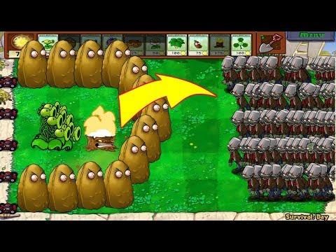 Plants Vs Zombies - 1 Threepeater vs 9999 Giga-Gagantuar - Thời lượng: 11:05.