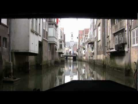 Canals of Dordrecht Holland by boat