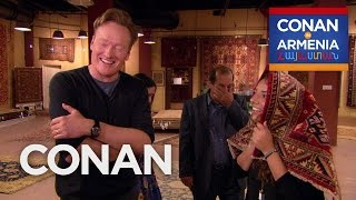 Conan Buys Sona's Family A Rug  - CONAN on TBS