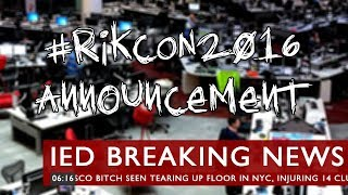 #RikCon2016 Announcement thumb image