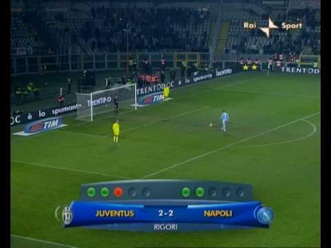 Rigori Juventus-Napoli Coppa Italia 2008/09