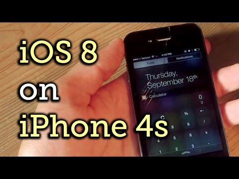 iphone 4S - How iOS 8 Functions on an iPhone 4S Full Tutorial: http://gadgethacks.com/inspiration/dont-buy-bs-ios-8-works-just-fine-iphone-4s-0157482/ Subscribe to Gadget Hacks: http://goo.gl/XagVI With...