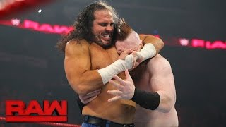 Six nights before The Hardy Boyz defend their Raw Tag Team Titles against Cesaro & Sheamus at WWE Payback, Matt Hardy locks up with The Celtic Warrior. #RAW...
