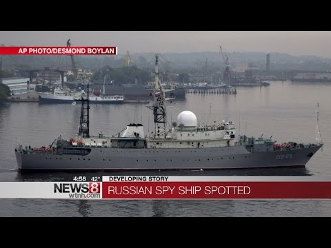 Russian ship watches Connecticut coast