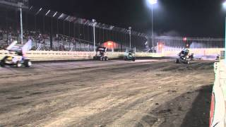 Jon Agan, Dakota Hendrickson crash at Knoxville 7-26-14