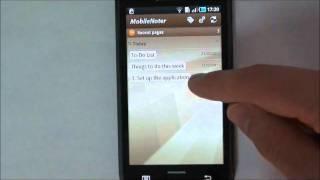 MobileNoter YouTube video