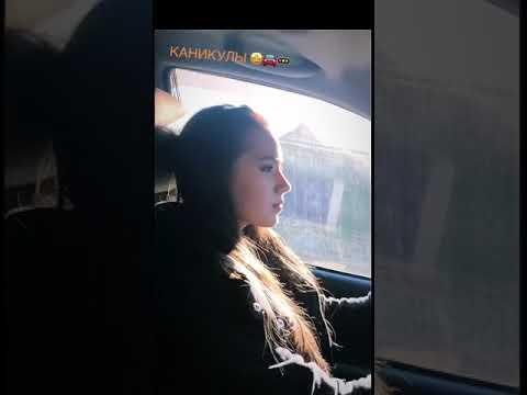 16-летняя Загитова управляет автомобилем
