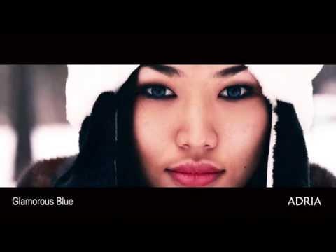 Glamorous Blue - цветные линзы Adria, видео в линзах