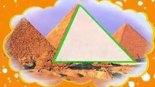 Геометрия для малышей. Треугольник - геометрические фигуры.