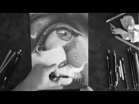 Surrealistic Pencil Drawing - ''Chryseyelis'' (HD)