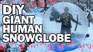 DIY Giant Human Snow Globe!!! - Man Vs Madness by ThreadBanger