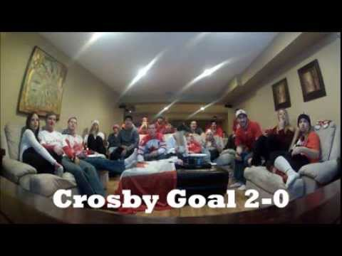 Canadian's React to Gold Medal Win vs. Sweden in 2014 Winter Olympics
