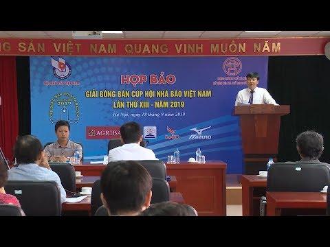 Họp báo Giải Bóng bàn Cúp Hội Nhà báo Việt Nam năm 2019