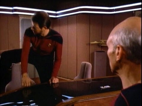 sit - A compilation of times that Commander Riker swings his leg over the back of a chair. Clips are from: Coming of Age (season 1) The Child (season 2) The Dauphi...