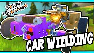 Scrap Mechanic! - CAR WIELDING CHALLENGE! Vs AshDubh - [#27] | Gameplay | by iBallisticSquid
