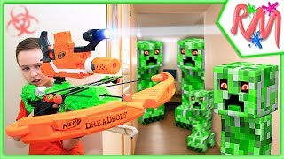 Creeper INVASION NERF Game! NERF vs Minecraft in Real Life