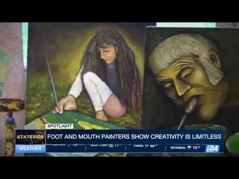 Foot and mouth painting artists show creativity is limitless