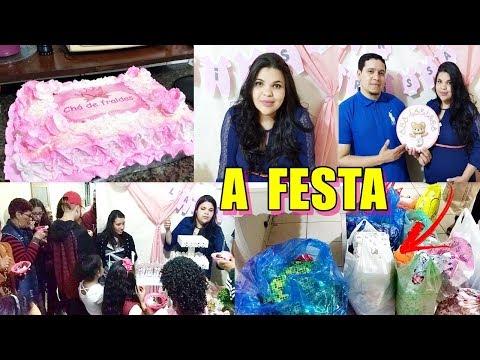 A FESTA DO CHÁ DE BEBÊ - A CASA ENCHEU DE GENTE - DEUS NOS SURPREENDEU (видео)
