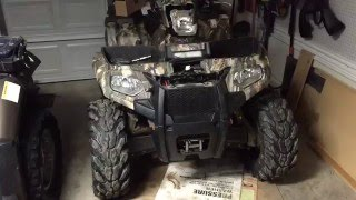 8. How to install a winch 2014 Polaris sportsman 570 winch install