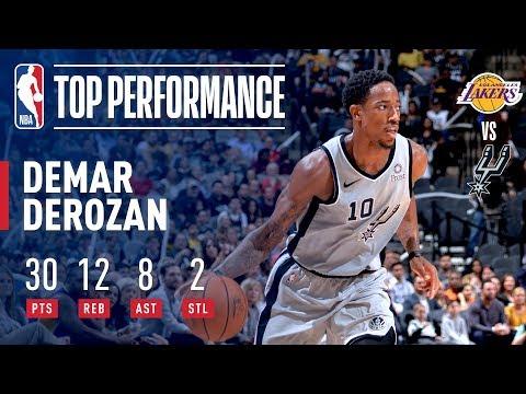 Video: DeMar DeRozan Drops A Near Triple Double On The Los Angeles Lakers | October 27, 2018