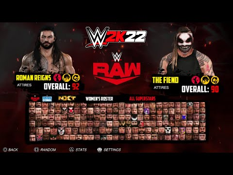 WWE 2K22 FULL ROSTER - 300+ Superstars - Raw, SmackDown, NXT, Alumni, Legends CONCEPT