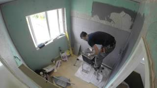 GoPro Bathroom renovation time lapse