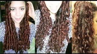 No heat Straw Curls 1 method- Heatless Big Curls to Everday Waves- Long Lasting Curls - YouTube