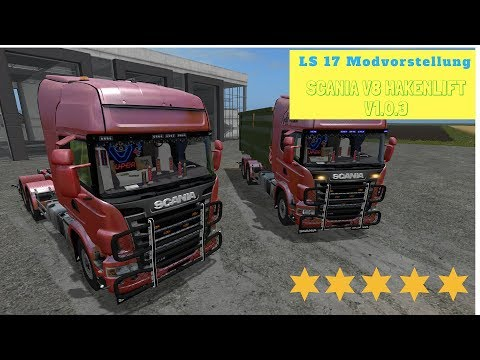 Scania V8 hook lift with rail trailer v1.0.4.1