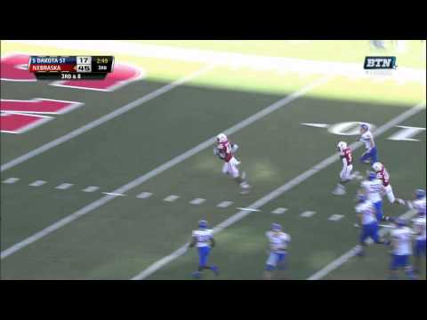 Randy Gregory pick-six vs South Dakota St. 2013 video.