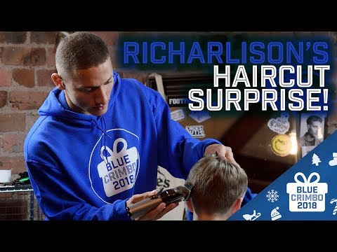 Video: RICHARLISON'S HAIRCUT SURPRISE! | BLUE CRIMBO 2018