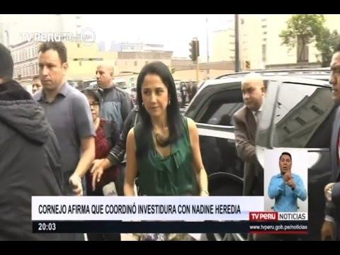 René Cornejo afirma que coordinó investidura con Nadine Heredia
