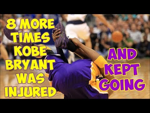8 More Times Kobe Bryant was INJURED but REFUSED to QUIT || Part 2 of 2 ||