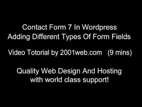 adding extra input fields using contact form 7 for wordpress