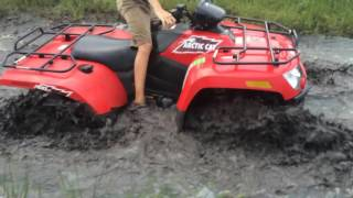 6. Arctic cat 500 In thick mud