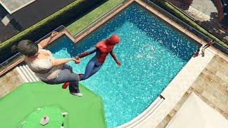 GTA 5 Epic Spiderman ragdolls ep.11 (Euphoria physics)