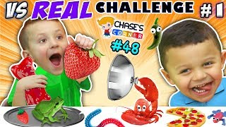 Chase & his cousin Anthony are doing the GUMMY vs. REAL Food Challenge! Not everything REAL can be eaten, like a SNAKE,  a Frog, a Lizard, Spider, Worms & MORE!!! Check out more of Anthony @ http://www.youtube.com/dinglehopperz  and thumbs up for GUMMIES!Last Video on DOH MUCH FUN:(◕‿◕) Shawn's Circle: ♫ POPPING BUBBLES ♪ Family Fun Games w/ Baby! Toys Playtime (#1)  DOH MUCH FUNhttps://youtu.be/2JFWVS13QCUOther Videos from Chase:(◕‿◕) Part 15: DOGGIE DOO w/ GRANDMA Surprise Bag - The Pooping Dog Gamehttps://youtu.be/Qp8ny-dohQM(◕‿◕) Part 16: PIE FACE CHALLENGE w/ SHOPKINS Game! Season 3 Blind Bagshttp://youtu.be/ZO4C0-CJq0M(◕‿◕) Part 17:  CHOCOLATE PEN - Making Tasty Treats https://youtu.be/IJaw_gd3VB4(◕‿◕) Part 21: World's Largest Gummy Worm Fight w/ Oreos Dirt - Ahhhh SNAKE!! https://youtu.be/Gn3VlvvaI0s(◕‿◕) Part 22: Boys Make a Minecraft Movie w/ OBSIDIAN Series 4 STOP-MOTION! https://youtu.be/d3tbTbjFgO8(◕‿◕) Part 23: SNOOPY SNOW CONES w/ GRANDMA + The Peanuts Movie Games & Magichttps://youtu.be/M5W3uj8aN1o(◕‿◕) Part 24: The GOOD DINOSAUR Surprise Egg!  A Messy, Wet, Poopy Adventurehttps://youtu.be/DhJbyWSToKs(◕‿◕) Part 25: Chase Makes FIZZY Soda! SODA SHOPPER MAKER!https://youtu.be/03l7_klJ3eU(◕‿◕) Part 26:  COTTON CANDY MAKER!!  5 Colorful Glowing Flavors   DOH MUCH FUNhttps://youtu.be/d5s2ECXGnUM(◕‿◕) Part 27: Buddy's Balloon Launch Game!!  High Flying Or Lying? https://youtu.be/-JeXPKBE3w4(◕‿◕) Part 28: POO DOUGH!  Gross & Weird Poopy Toy Prank w/ TROLLS https://youtu.be/3sqlixuPpl4(◕‿◕) Part 29: GOOEY OOZE Monster Mess! PVZ Zombie Slime Head + Build Kit https://youtu.be/G-Mhpwvx_xE(◕‿◕) Part 30: PLAY-DOH LAUNCH GAME! Kid vs. Parents Challenge w/ Mystery Boxeshttps://youtu.be/RaNKCkWWooY(◕‿◕) Part 31: TALKING FART!  Gas Out Game w/ Guster the Stink Cloudhttps://youtu.be/7bHPQKKGKJs(◕‿◕) Part 32: Chase's Corner: CROCODILE DENTIST!  Snap! Ouch! w/ SCENTOS Scented Doughhttps://youtu.be/gsKLWtNH9wo(◕‿◕) Part 33: Chase's Corner: FOOL THE FROG!  Flies, Toads & J