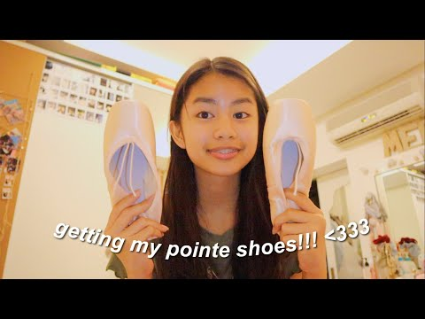 getting my first pair of pointe shoes!!!