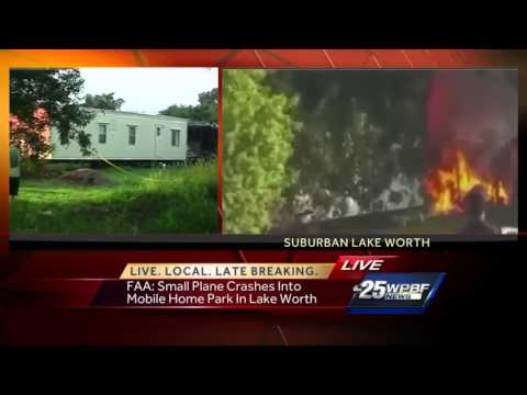 Plane crashes into Lake Worth community