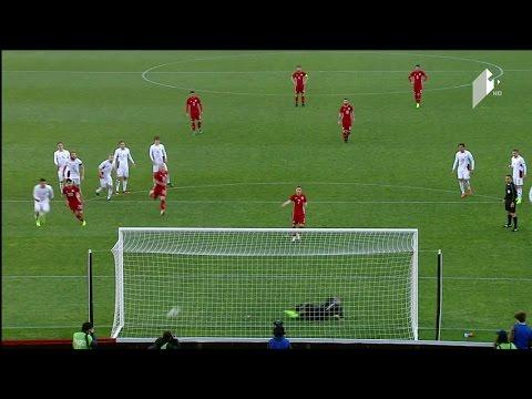 Грузия - Латвия 5:0. Видеообзор матча 28.03.2017. Видео голов и опасных моментов игры