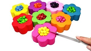 Video DIY Kinetic Sand Candy Skittles Flowers Learn Colors with Kinetic Sand Feet and Hands for Kids MP3, 3GP, MP4, WEBM, AVI, FLV Mei 2017
